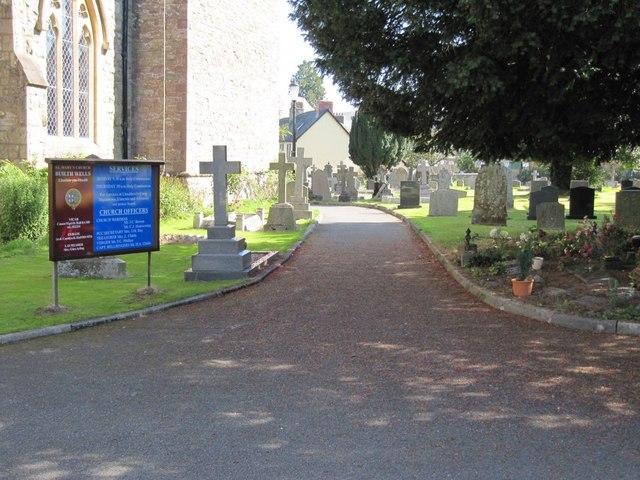 Path past the church