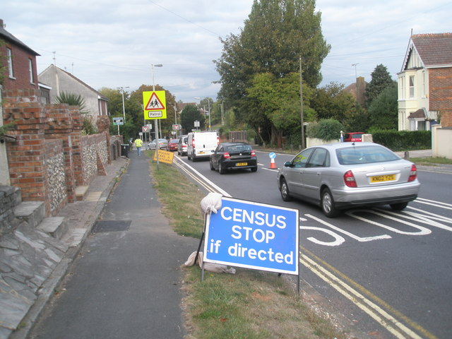 Traffic census on Bedhampton Hill (1)