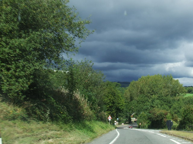 Approaching Alvington and Stormy Weather.