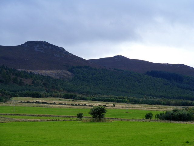 Looking towards Craigshannoch from Harthill Castle