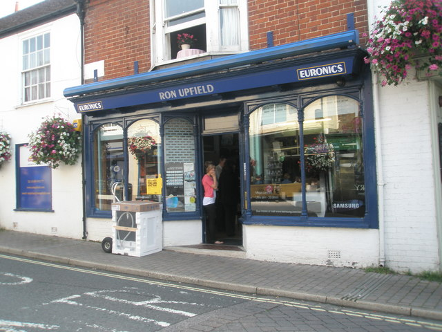 Ron Upfield in Bishop's Waltham High Street