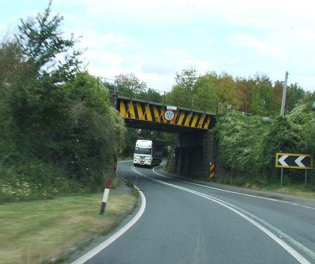 Railway Bridge over A48 at Broadoak
