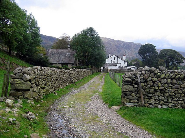Track approaching Stonethwaite from the south east