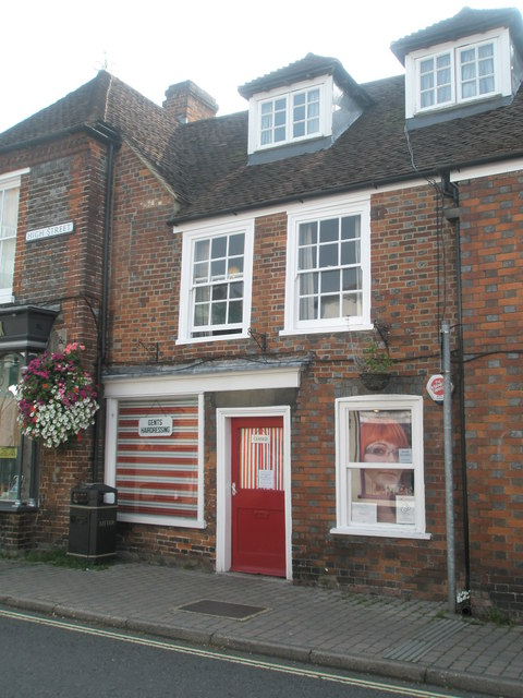 Traditional barbers in Bishop's Waltham High Street