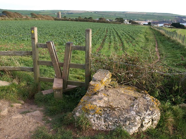 Stile on the path to Thurlestone
