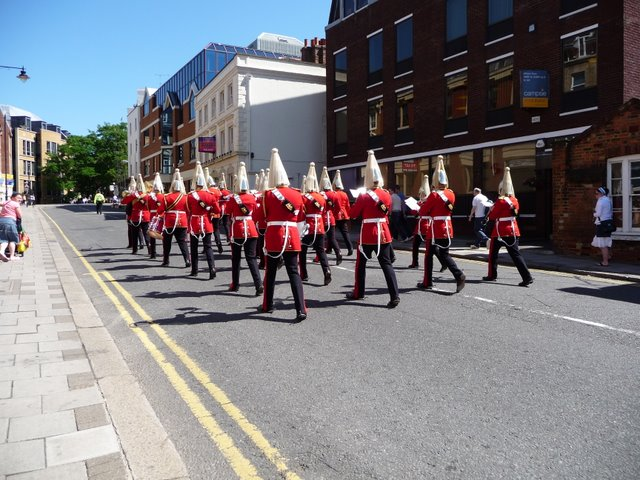 Sheet Street and the Band of the Life Guards