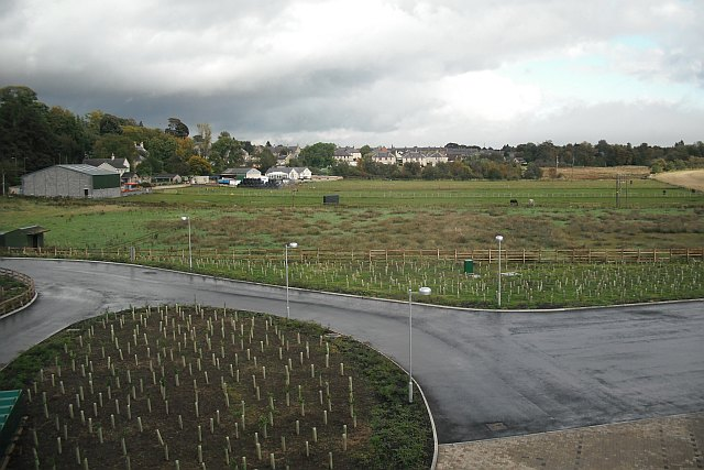 View from Berwickshire High School