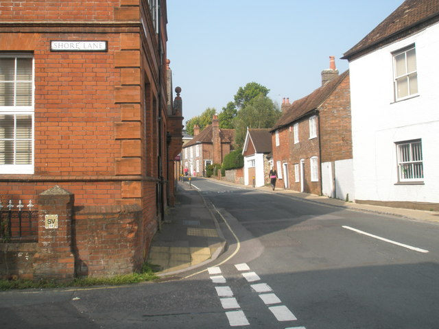 Looking from Shore Lane into Bank Street