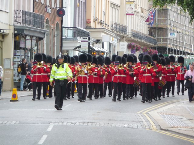 High Street and the Band of the Scots Guards