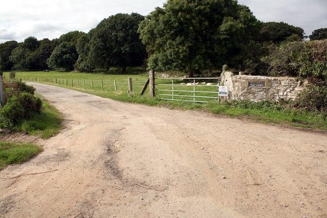 Entrance to Plas Lligwy Caravan Park