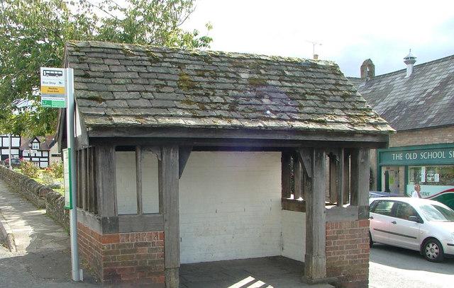 Weobley bus shelter.