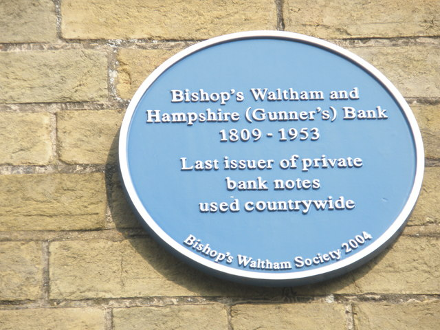 Informative plaque in Bank Street