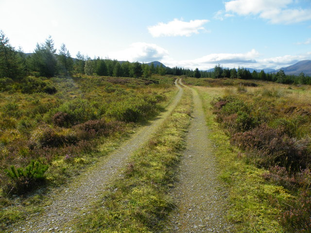 Heading for end of Track and Allt a' Chàise