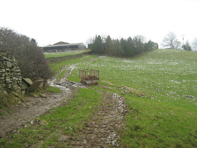 The track to Crook of Lune farm