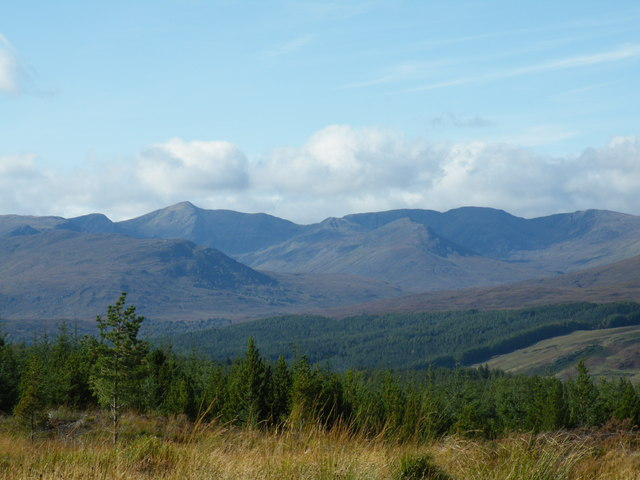 Looking over to Ceannacroc forest from near Allt a' Chàise