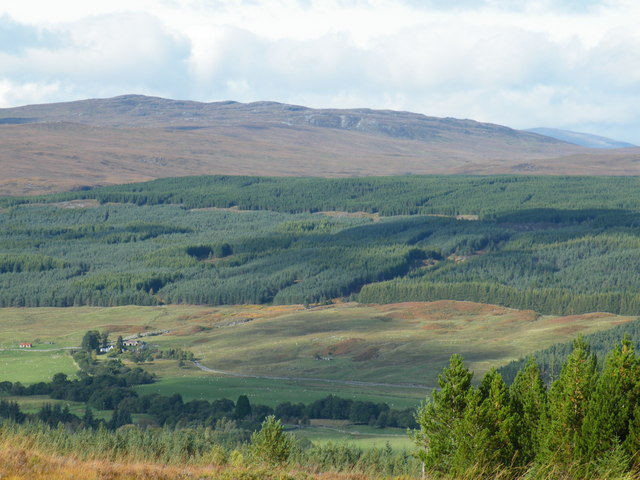 Looking down on Dalchreichart from Inverwick Forest