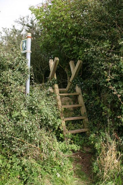 Stile near Plas Lligwy, Anglesey