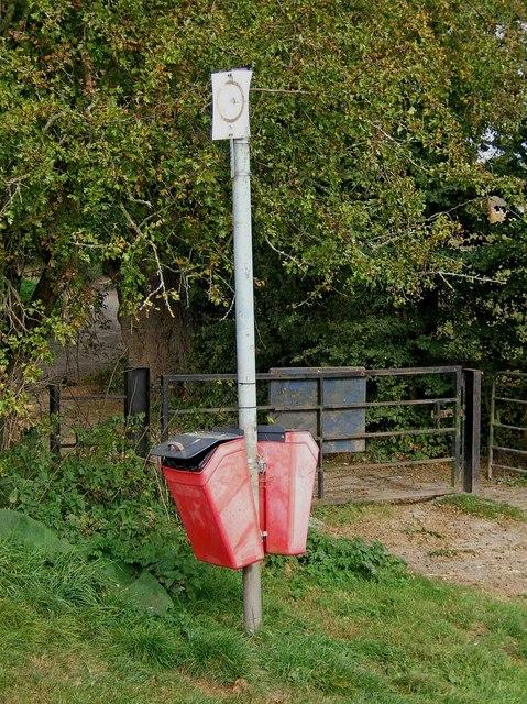 Dog waste bins at Northwick Lido, Worcester