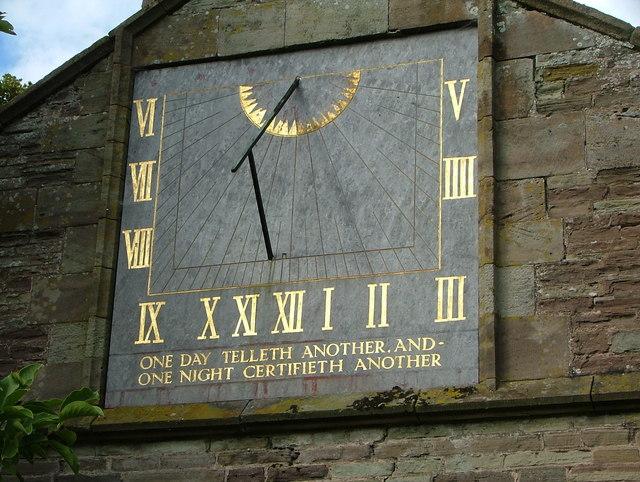 Weobly Church Sundial