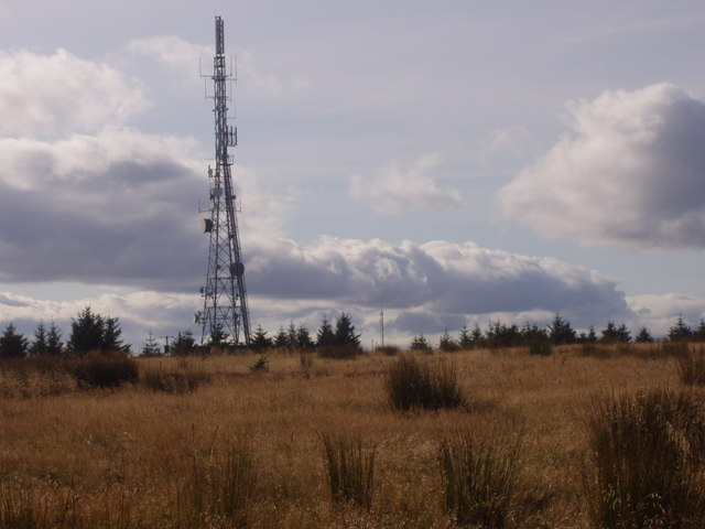 Telephone tower on top of the Hill of Corskie