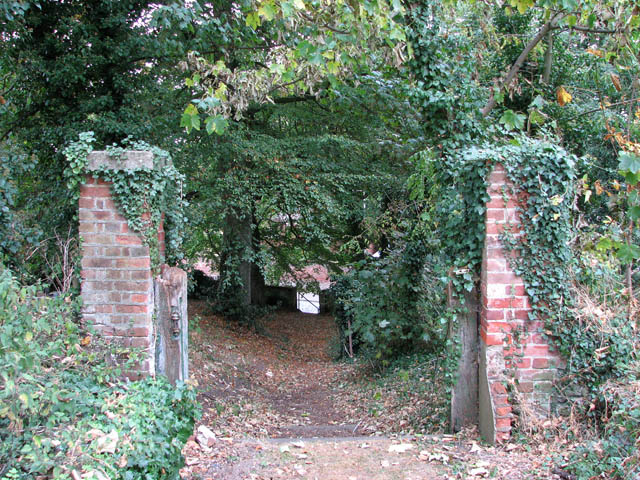 Steep path to Sandy Lane