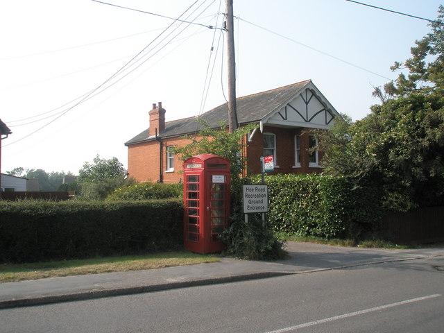 Phone box in Hoe Road