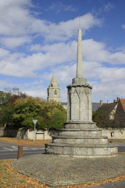 Helpston village cross
