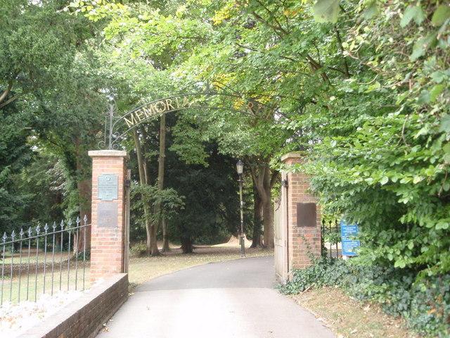 Entrance to Tring Memorial Park