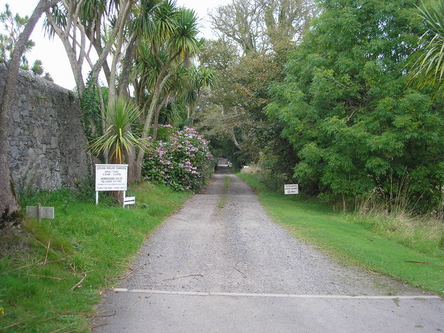 The road to Logan House Garden