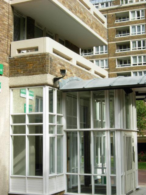 Entrance to Godfrey House, Finsbury