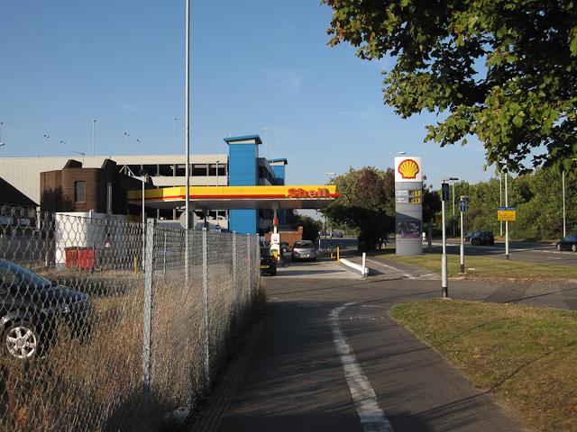 Petrol station on Mile End Road