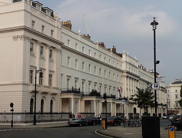 North-west terrace of Belgrave Square