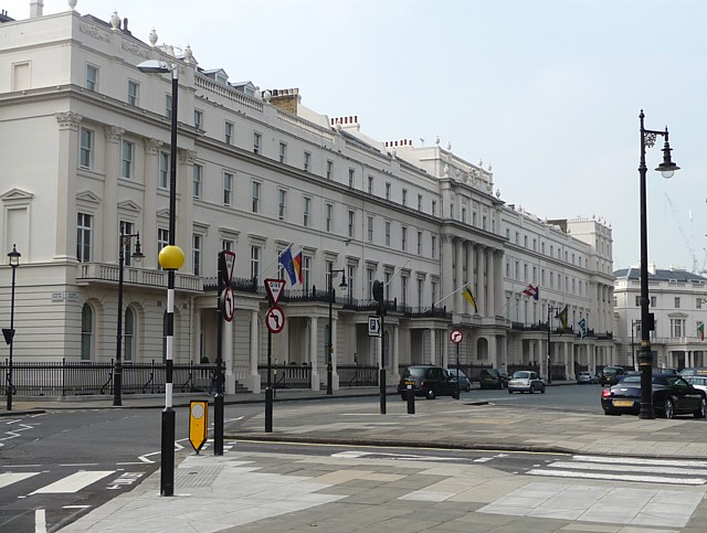 South-west terrace of Belgrave Square
