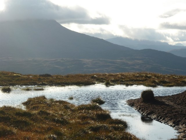 Peat pool on Creag Ghlas