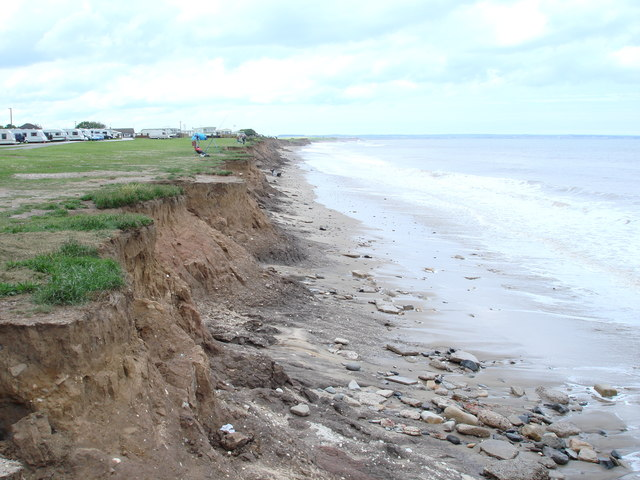 Coastal erosion at Ulrome, East Yorks