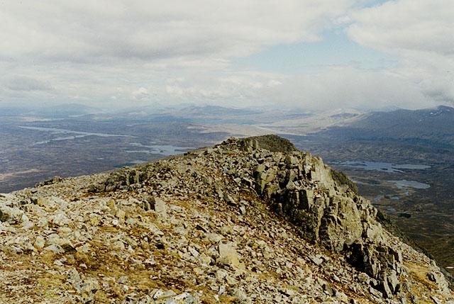 Summit ridge of Meall a' Bhuiridh