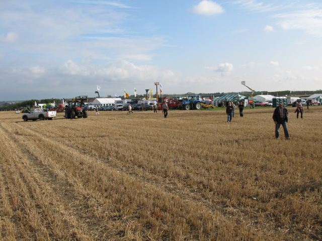 Trade stands at the East Kent Ploughing Match