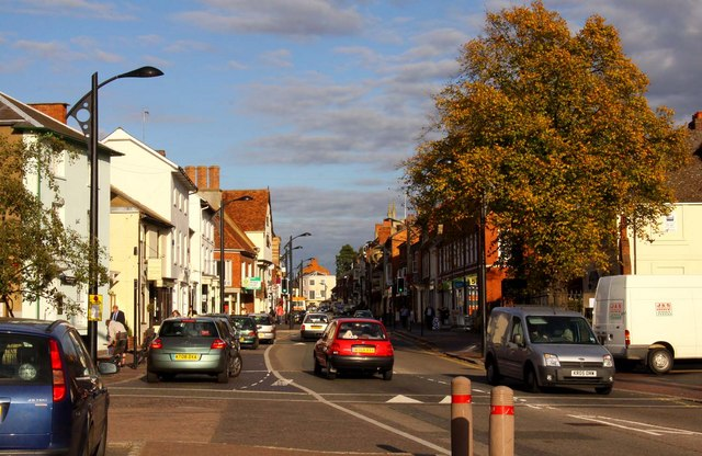 The High Street in Newport Pagnell
