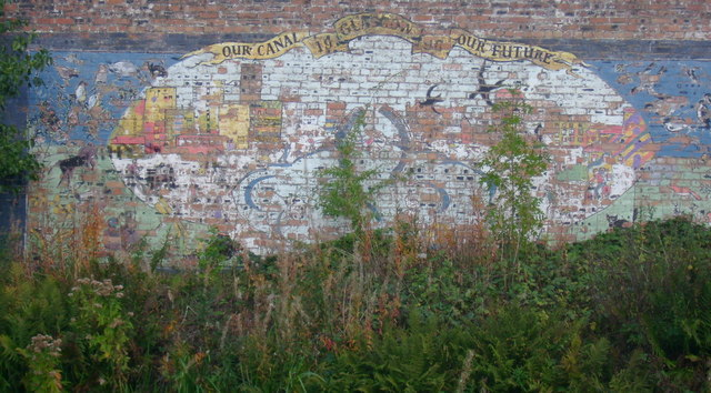 Glasgow canal mural