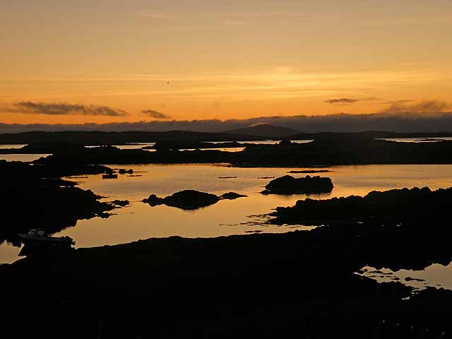 Sunset over the Sound of Harris