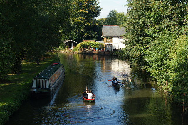 River Wey Navigation at Guildford, Surrey