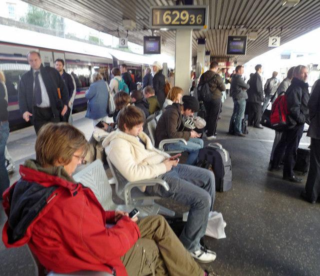 Rush hour, Haymarket Station