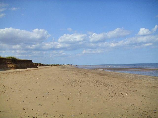 The beach at Kilnsea Warren