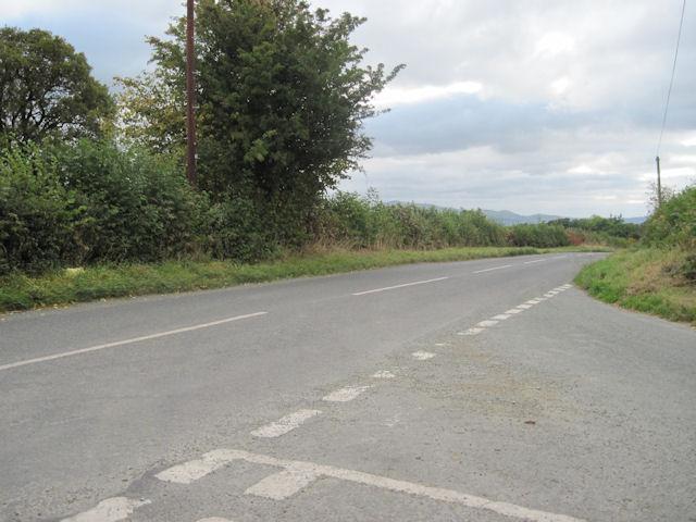 Road Junction looking towards Berriew