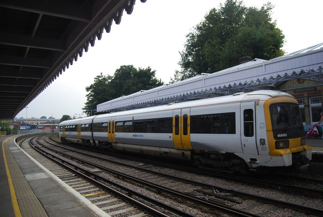 The Strood train pulls into Maidstone West Station