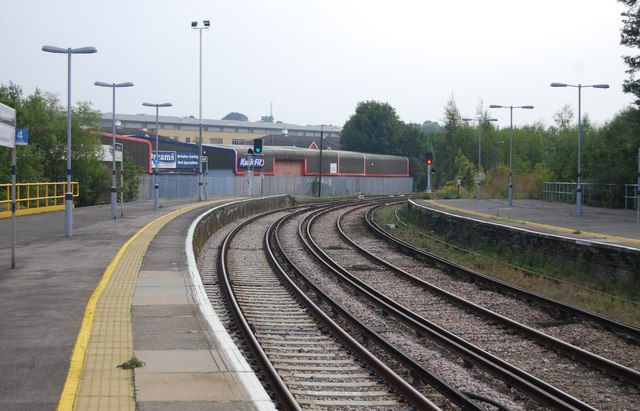 The southern end of Maidstone West Station