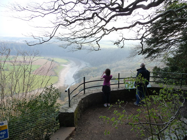 The Wyndcliffe viewpoint on the Wye Valley Walk