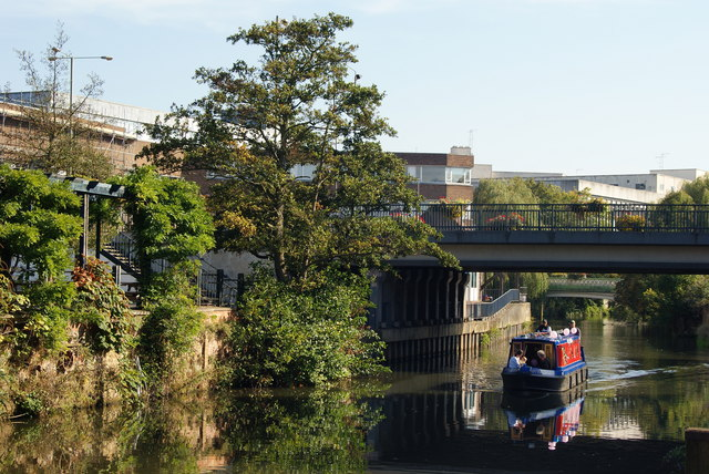 Narrowboat on the River Wey, Guildford, Surrey