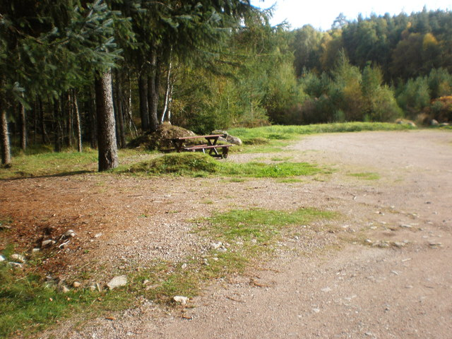 Picnic and Parking area at start on Old Drovers road by Allt Tarsuinn