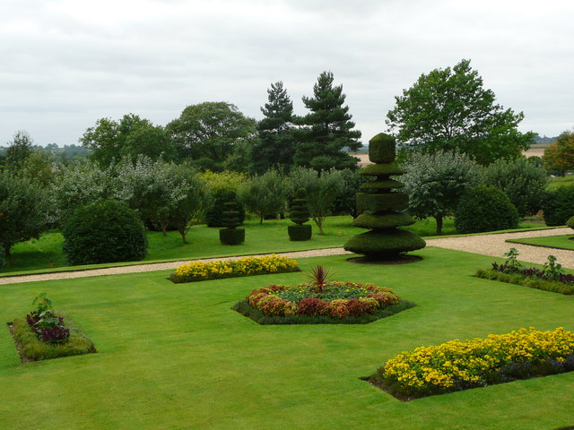 Canons Ashby - the garden looking away from the house